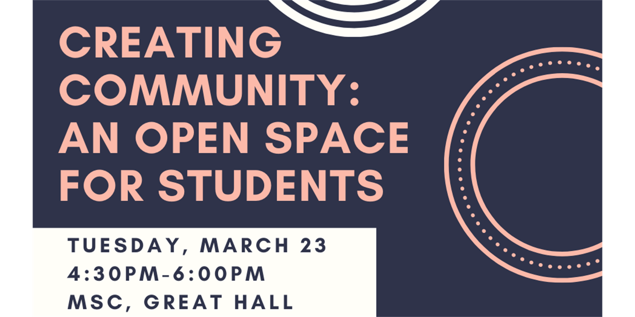 Creating Community: An Open Space for Students Event Logo