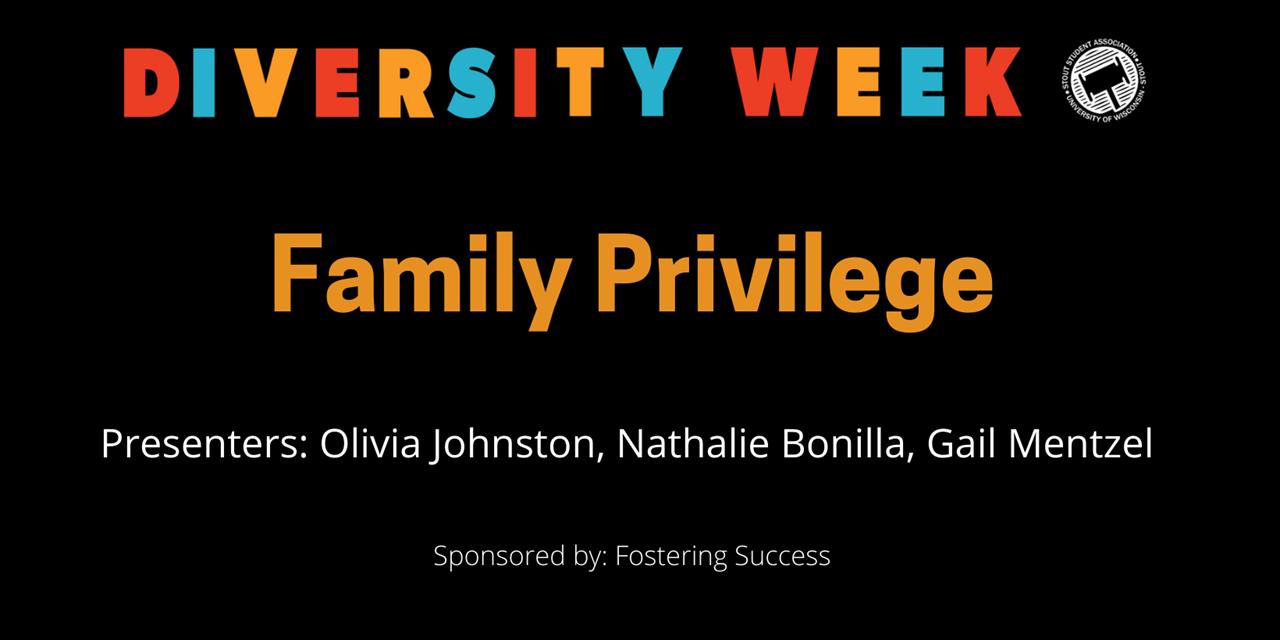 Diversity Week - Family Privilege Event Logo