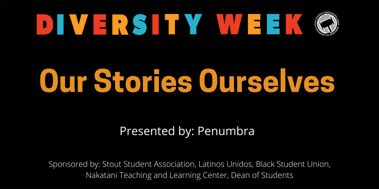 Diversity Week - Our Stories Ourselves Event Logo