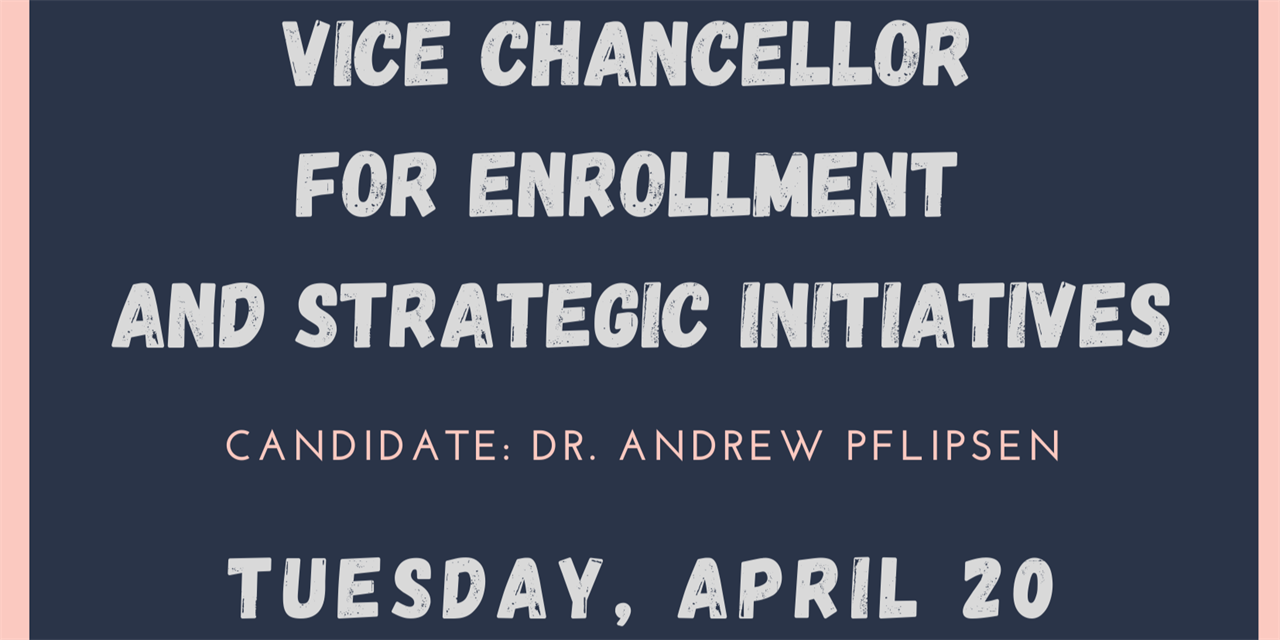 Student Meeting with Vice Chancellor for Enrollment and Strategic Initiatives Candidates Event Logo
