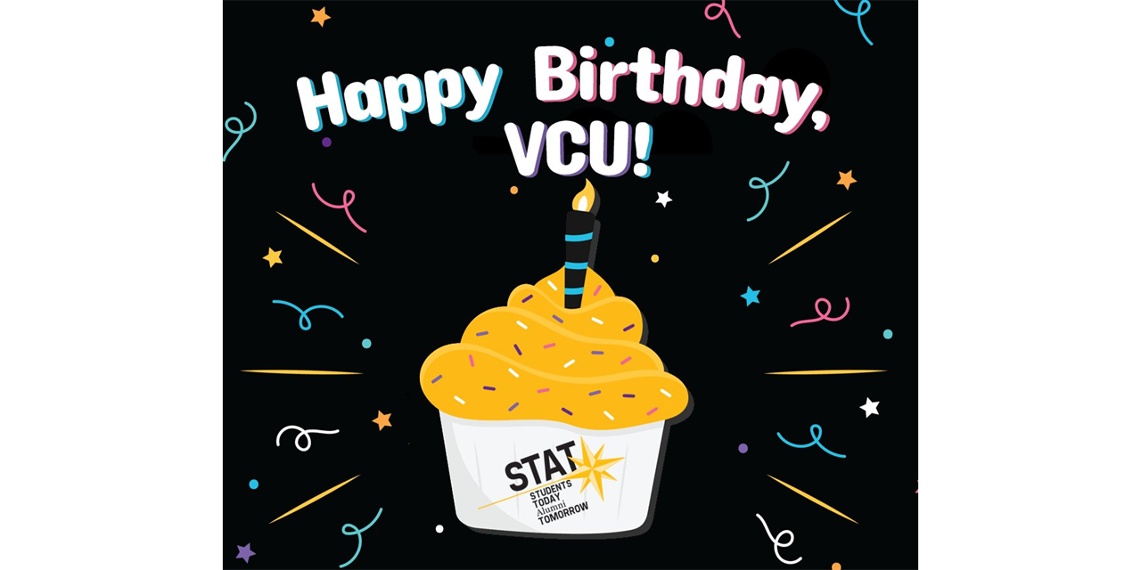 VCU Birthday Event Logo