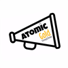 Atomic Gold Stomp & Shake Cheerleading Team's logo