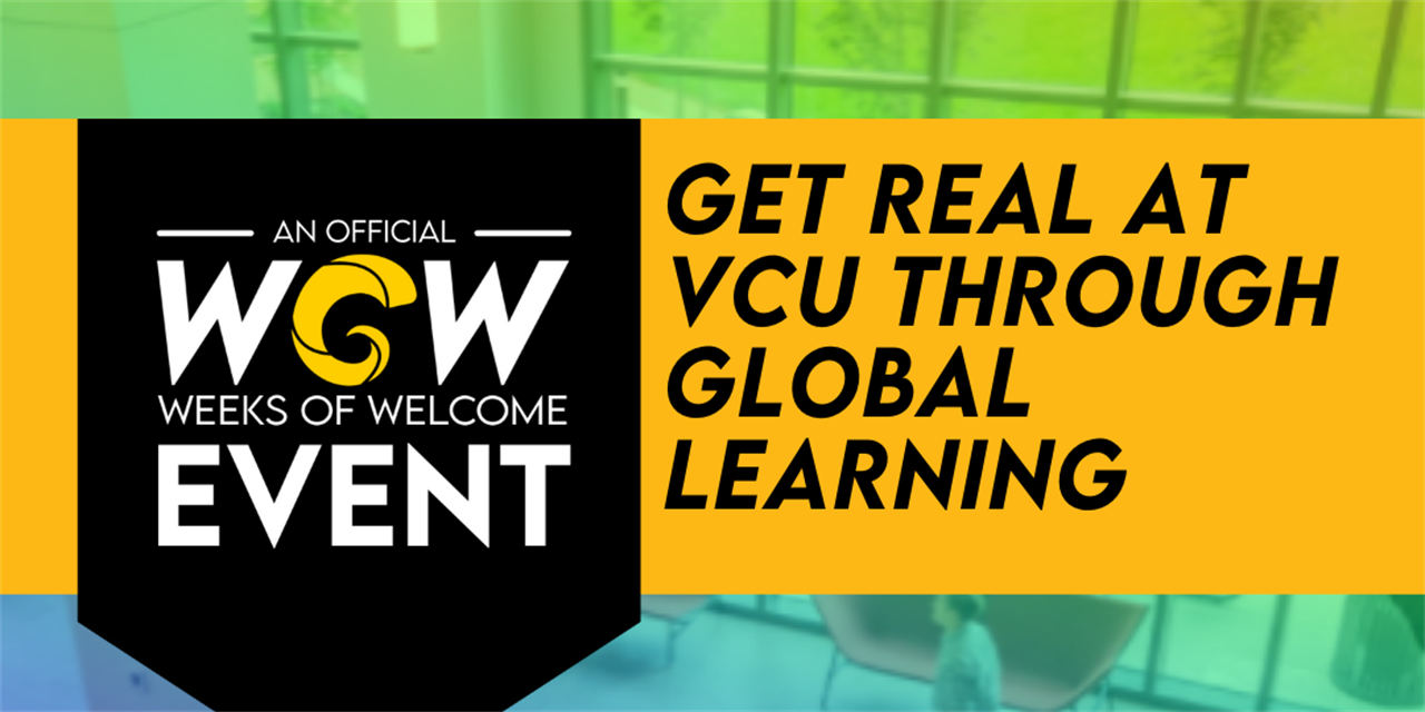 Get REAL at VCU Through Global Learning Event Logo