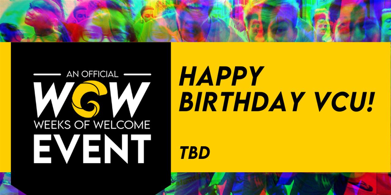 Happy Birthday VCU! Event Logo
