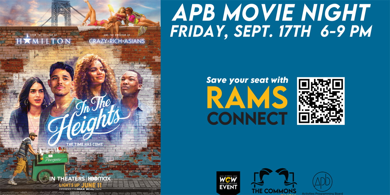 APB Movie Night: In the Heights Event Logo