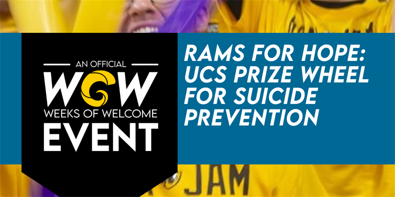 Rams For Hope: UCS Prize Wheel for Suicide Prevention Event Logo