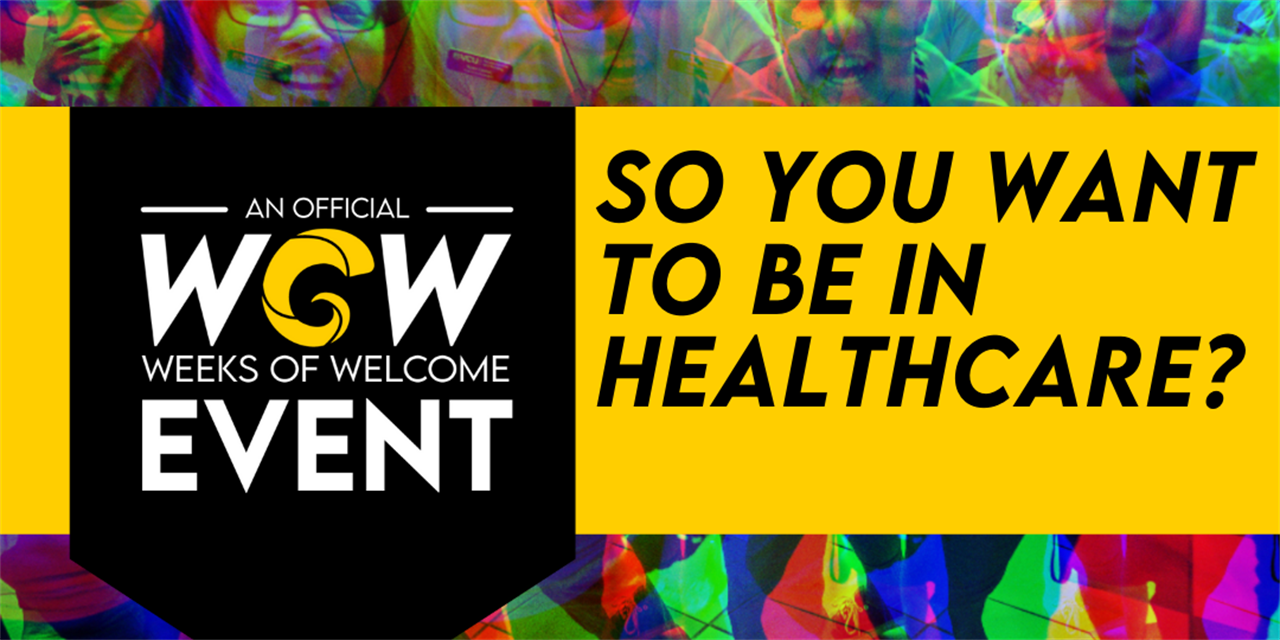 So You Want to be in Healthcare Event Logo