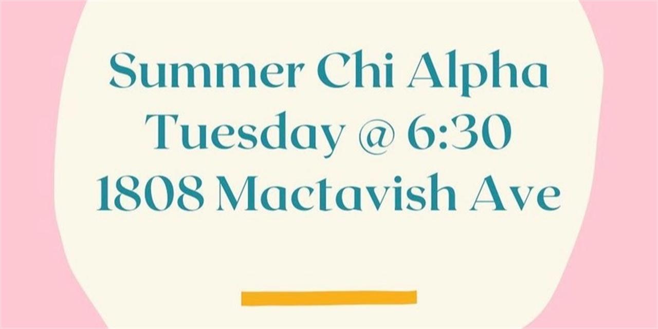 Summer Chi Alpha Event Logo