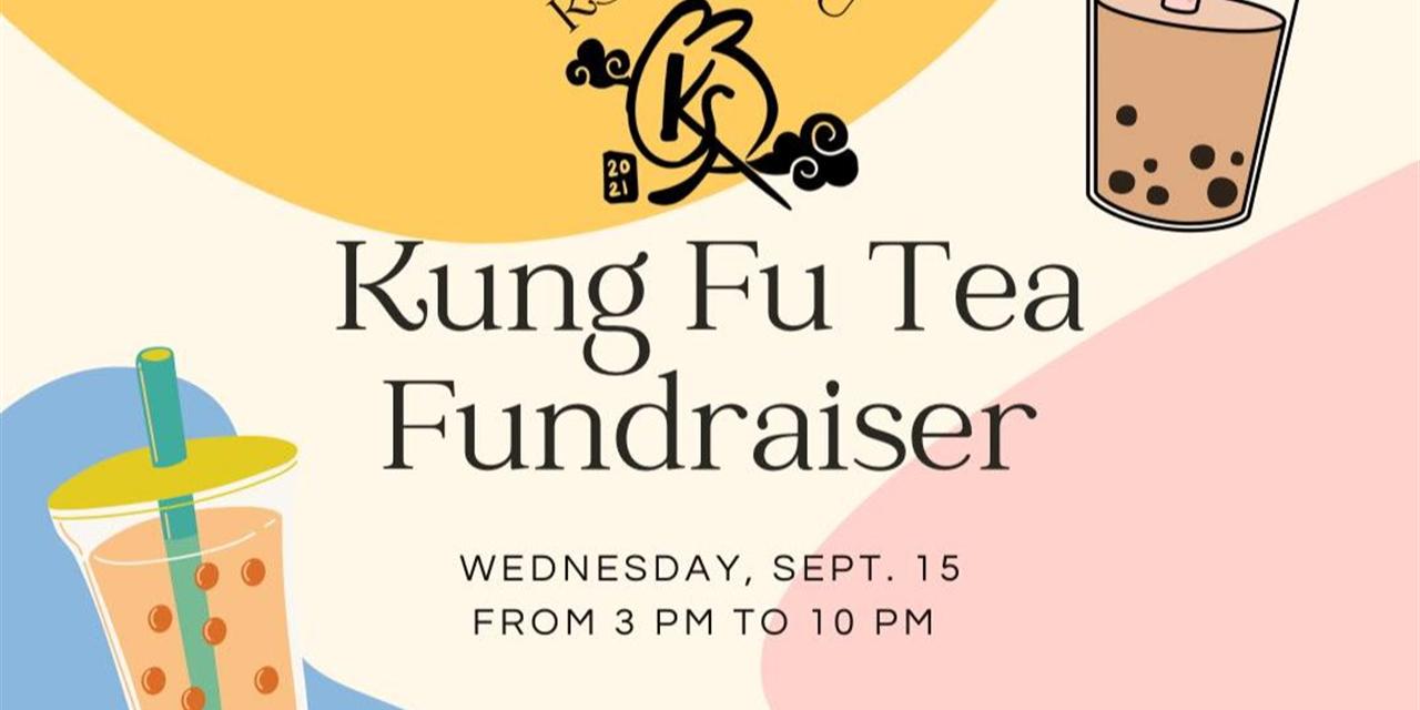 KSA x Kung Fu Tea Fundraiser Event Logo