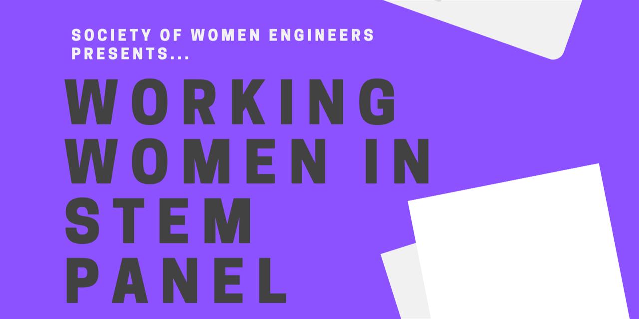 SWE-VCU Working Women in STEM Panel Event Logo