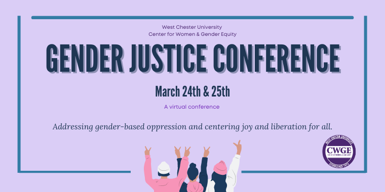 First Annual Gender Justice Conference Event Logo