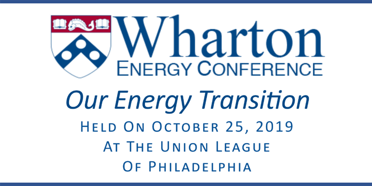 Wharton Energy Conference: Our Energy Transition Event Logo