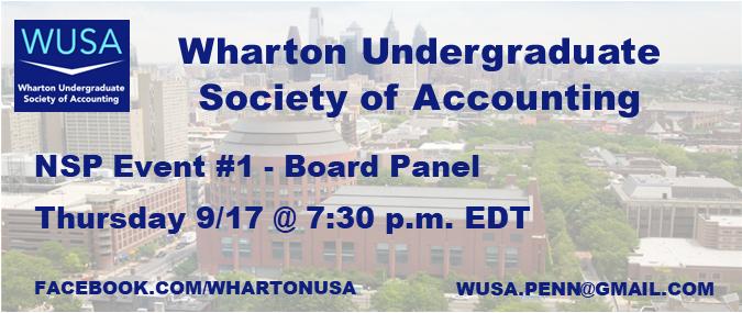 NSP #1 - WUSA Board Panel