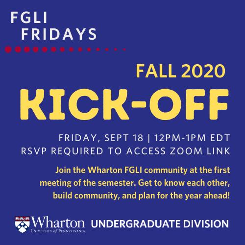 FGLI Fridays Kick-Off