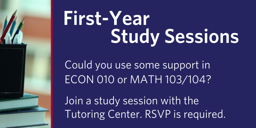 First-Year Study Sessions for ECON 010 (12/3) Event Logo
