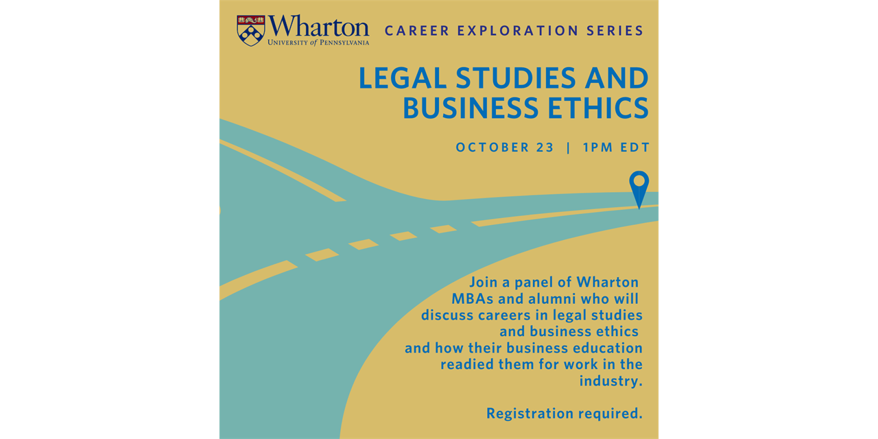 Career Exploration Series: Legal Studies and Business Ethics