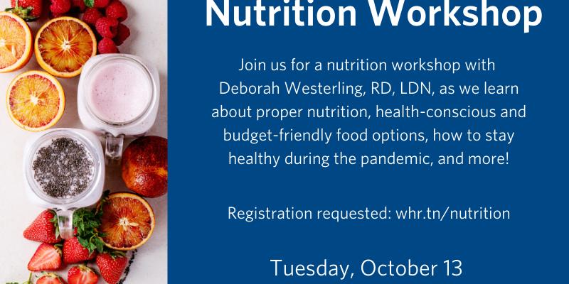 Wellbeing Series: Nutrition Workshop