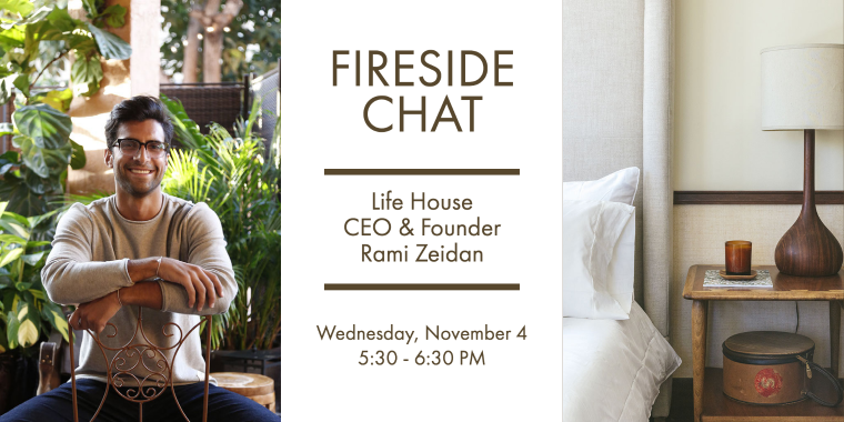 Wharton T&H Club: Fireside Chat with Life House CEO & Founder, Rami Zeidan Event Logo