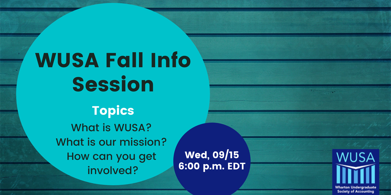 WUSA Info Session Event Logo