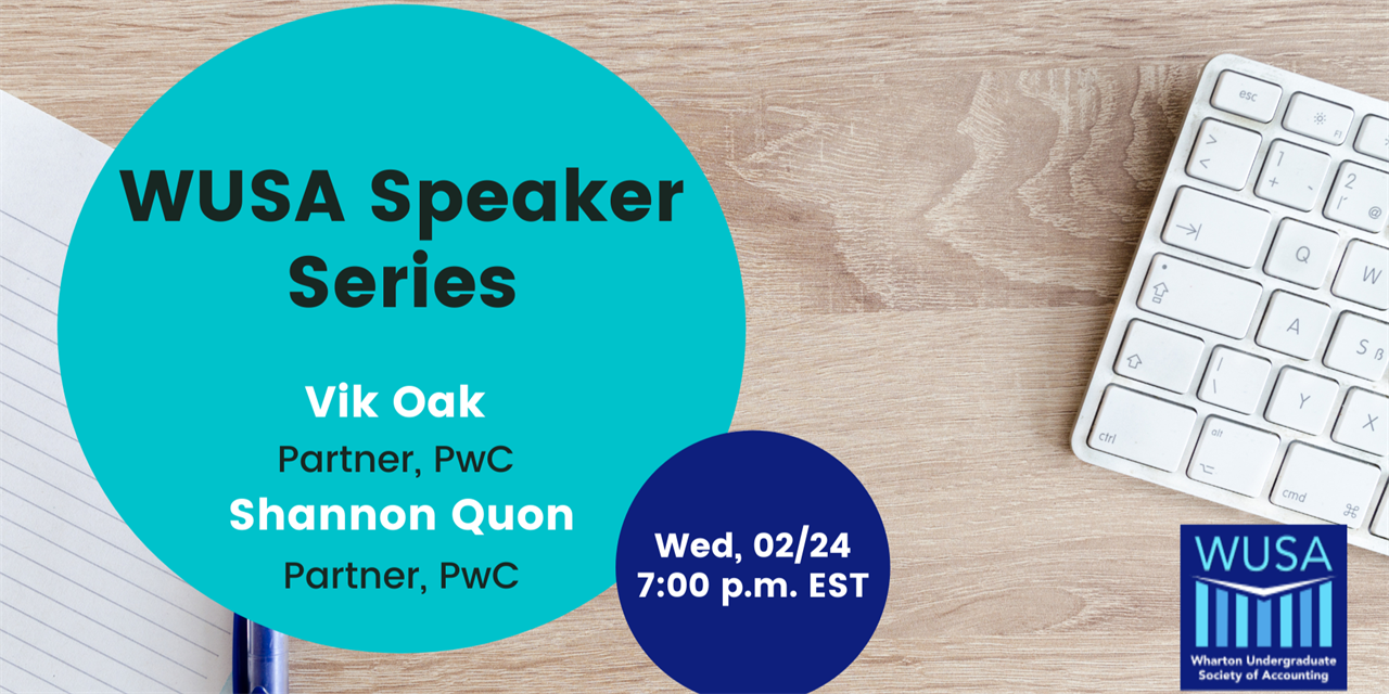 WUSA Speaker Series: Vik Oak, Partner at PwC and Shannon Quon, Partner at PwC Event Logo