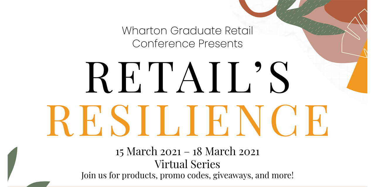 15th Annual Wharton Graduate Retail Conference, A Servies of Virtual Events Event Logo