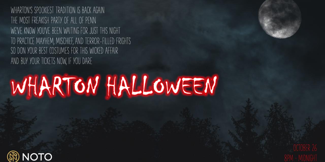 Wharton Halloween Event Logo