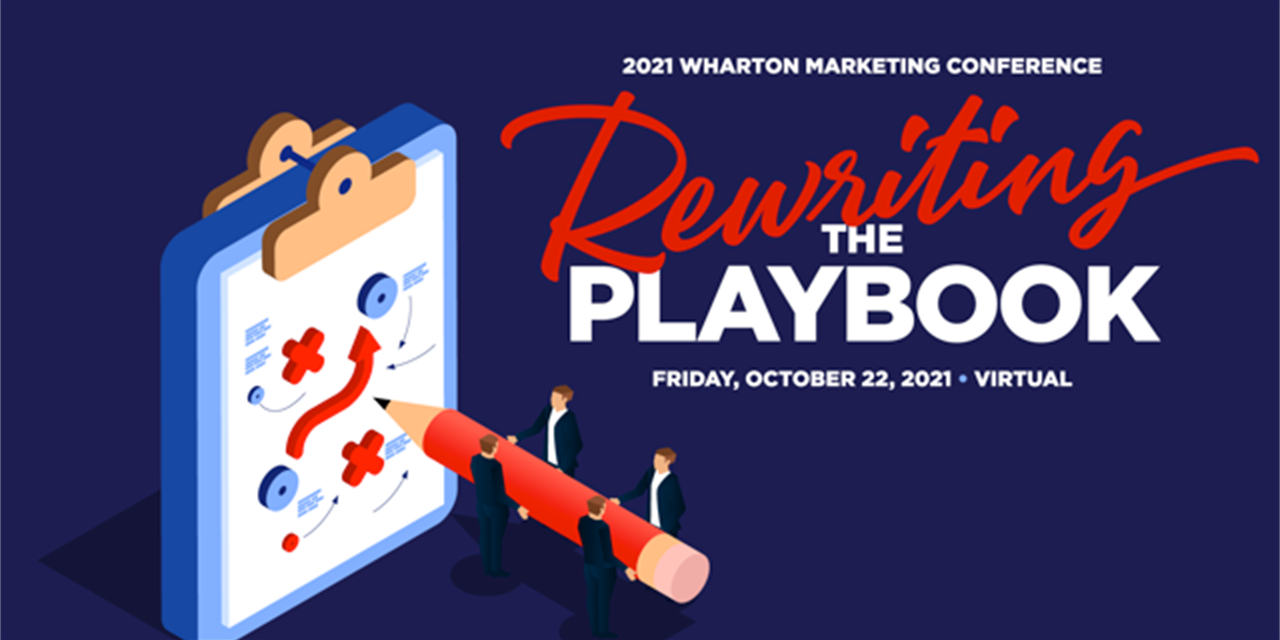 Wharton Marketing Conference 2021- Rewriting the Playbook Event Logo
