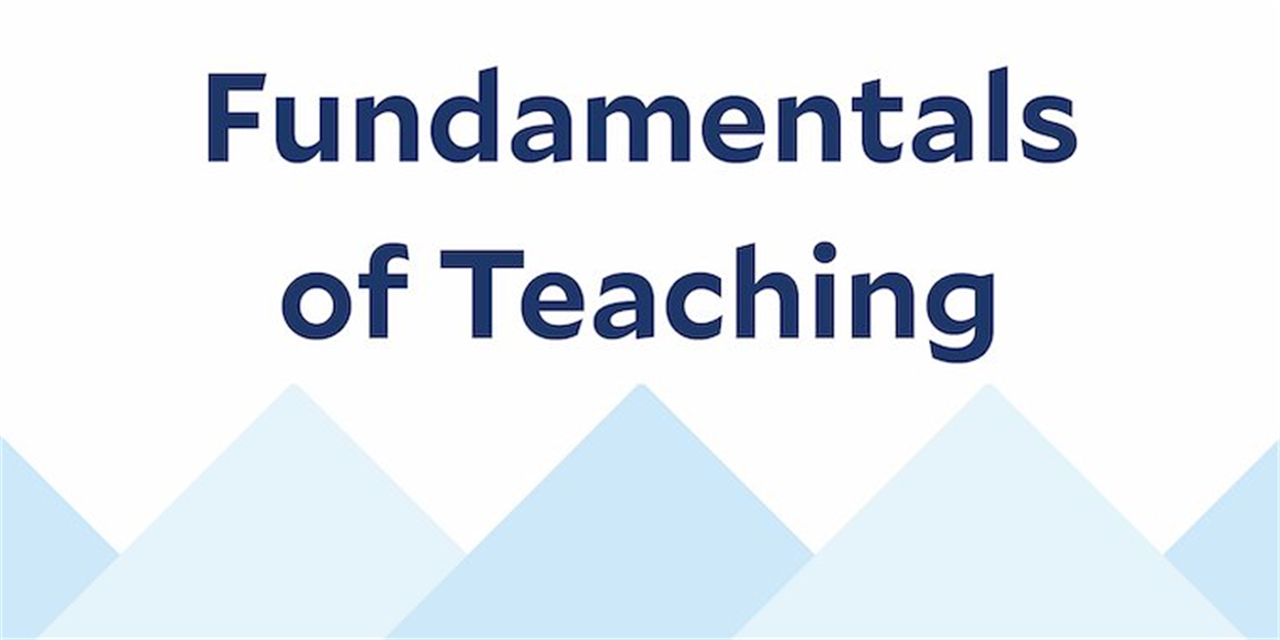 Fundamentals of Evidence-Based Teaching (Part 1 of 4) Event Logo