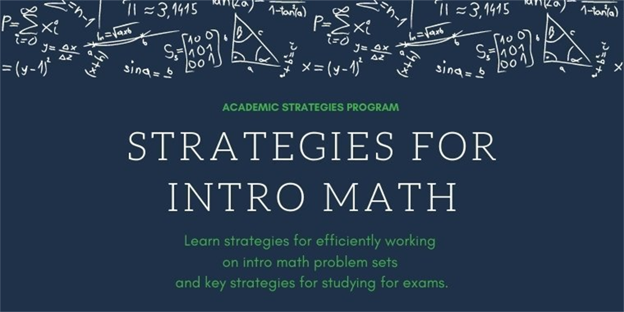 Strategies For Intro Math: Problem Sets & Exams Event Logo