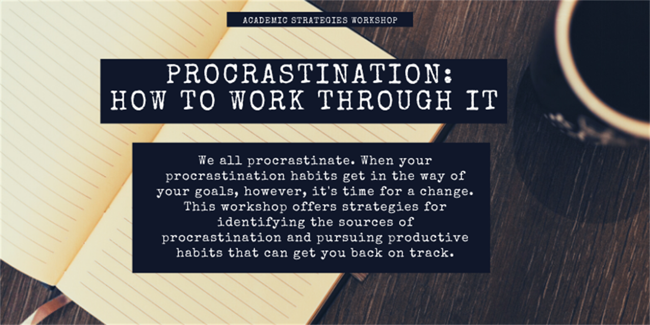 Procrastination: How to Work Through It Event Logo