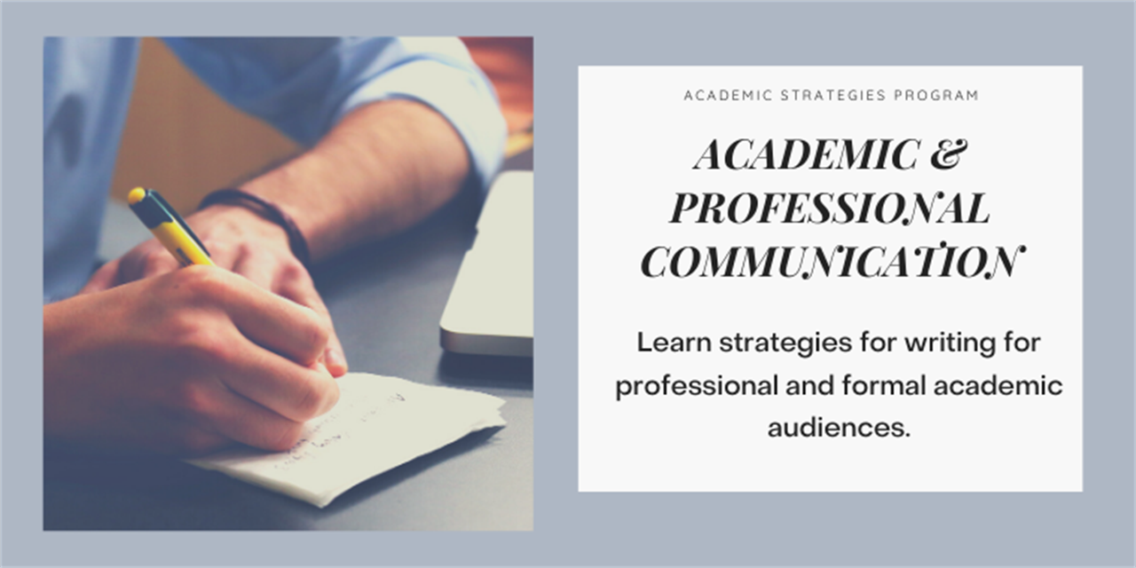 Academic and Professional Communication: Writing Emails, Presentations, and Reports Event Logo
