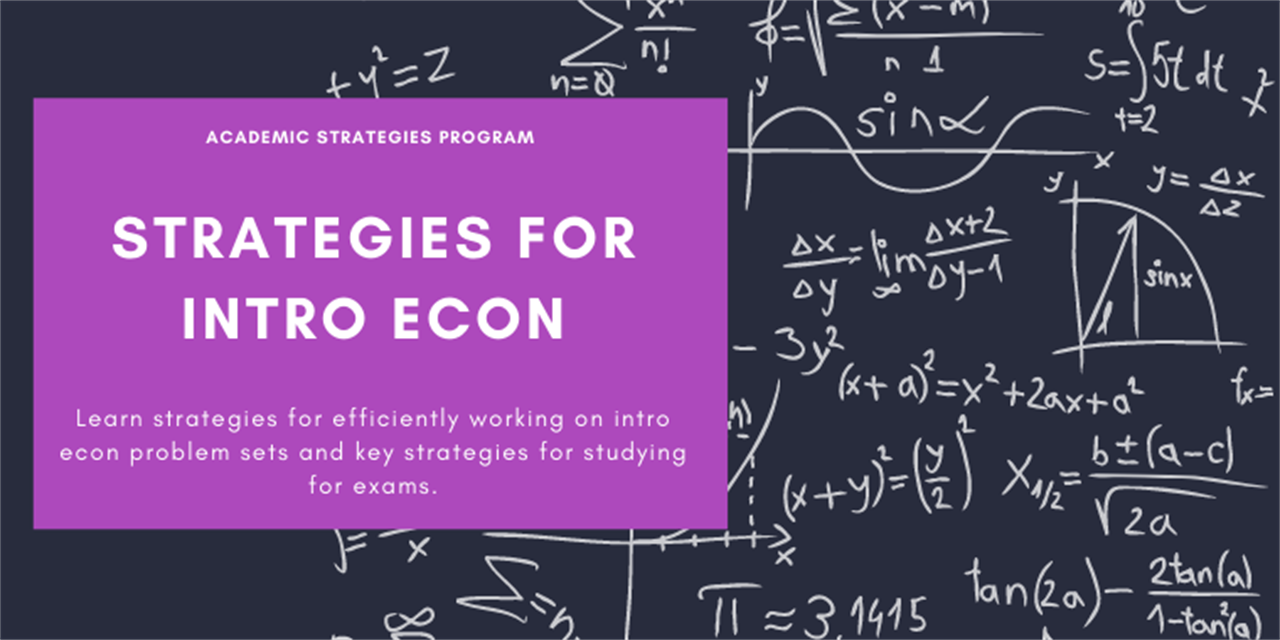 Strategies For Intro Econ: Problem Sets & Exams Event Logo