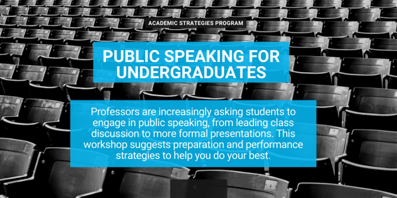 Public Speaking for Undergraduates Event Logo