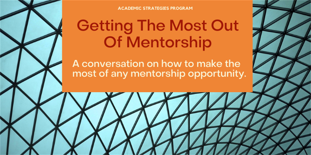 Getting The Most Out Of Mentorship Event Logo