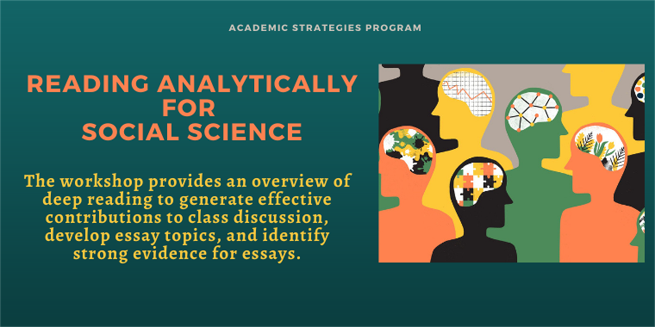 Reading Analytically For Social Science Event Logo