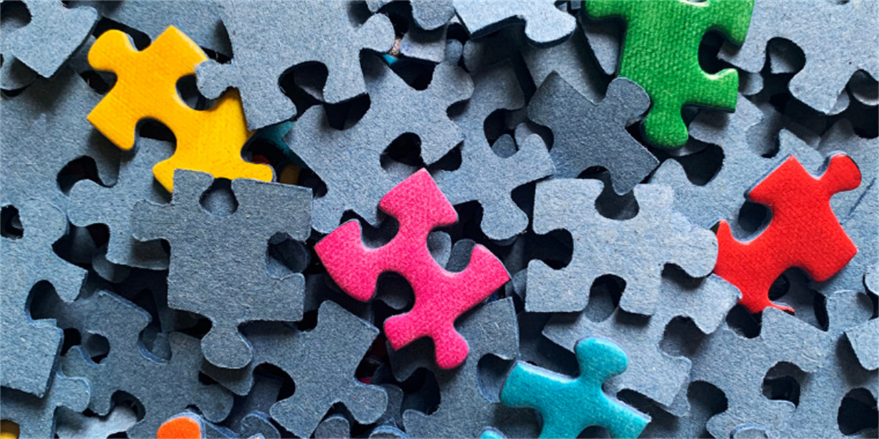 LGBTQIA+ Jigsaw Mixer Event Logo