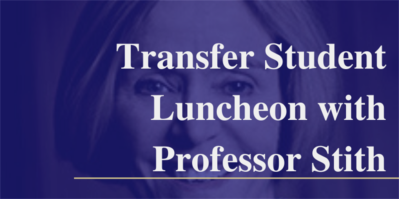 Transfer Student Lunch with Professor Kate Stith Event Logo