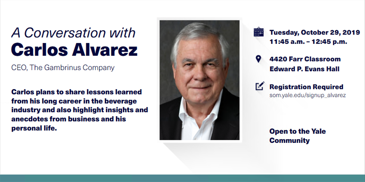 Conversation with Carlos Alvarez, CEO of The Gambrinus Company Event Logo