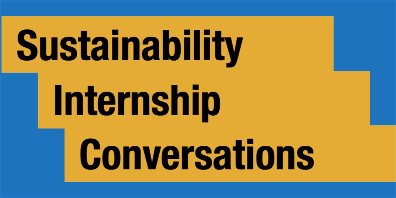 Sustainability Internship Panel #2 Event Logo