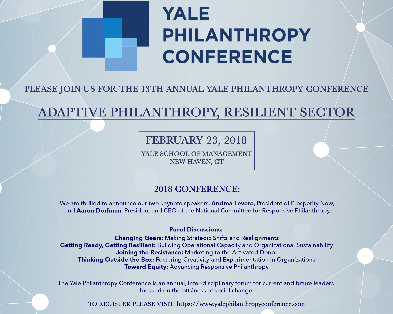 Yale Philanthropy Conference 2018