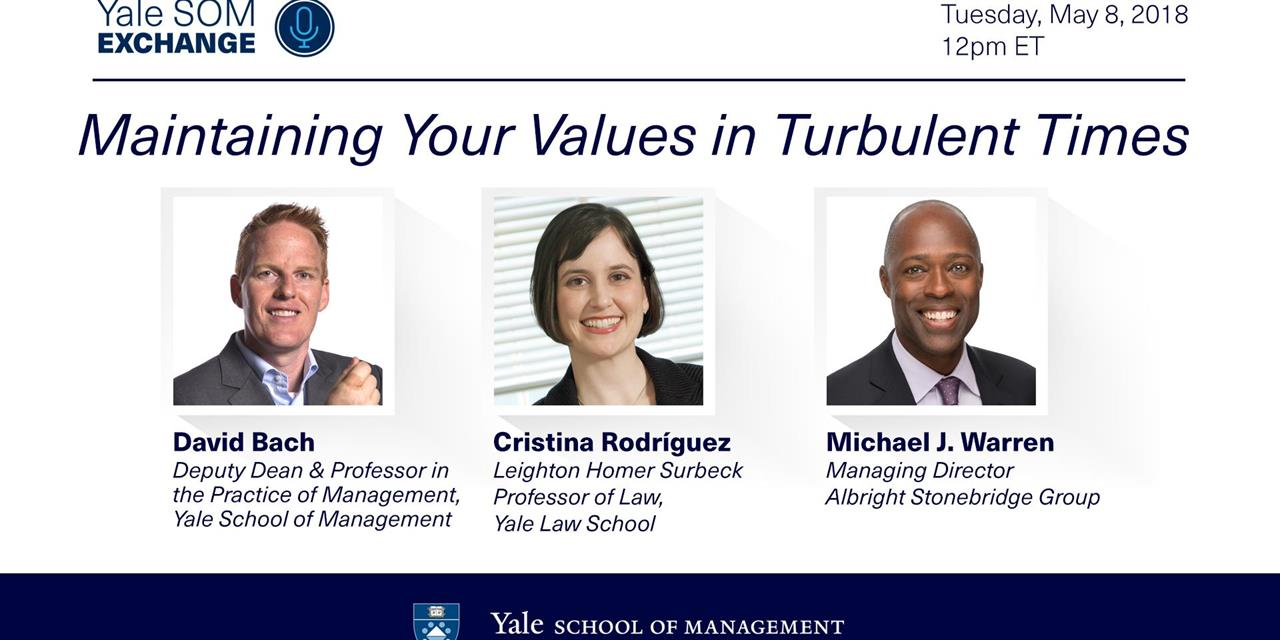 [WEBINAR] Maintaining Your Values in Turbulent Times Event Logo