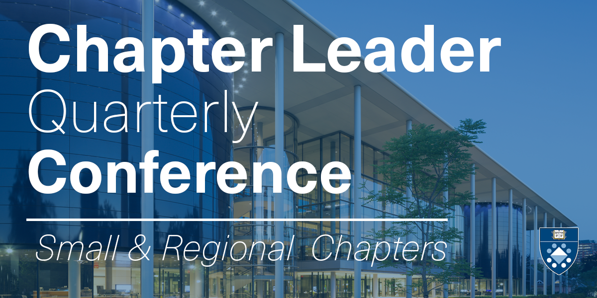 September Chapter Leader Quarterly Conference Call (Small & Regional Chapters) Event Logo