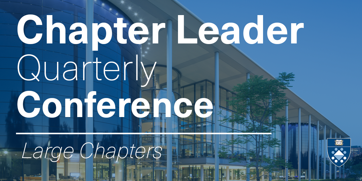September Chapter Leader Quarterly Conference Call (Large Chapters) Event Logo