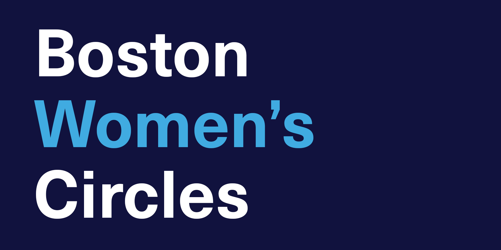 Sign-up for Yale SOM Boston Women's Circles