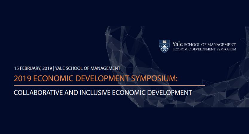 Yale 2019 Economic Development Symposium