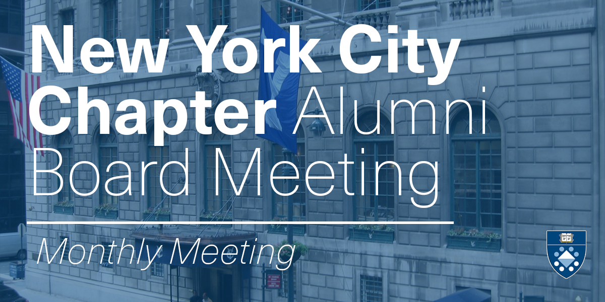 NYC Chapter Alumni Board Meeting (October)