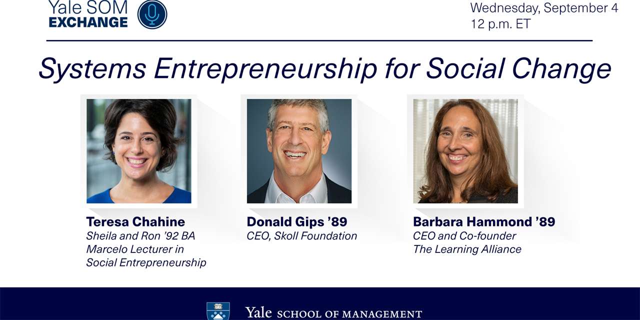 [WEBINAR] Systems Entrepreneurship for Social Change Event Logo