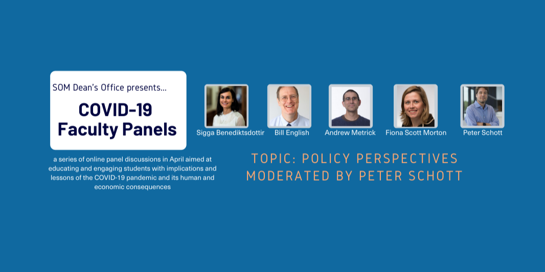 [WEBINAR] COVID-19 Faculty Panel: Policy Perspectives