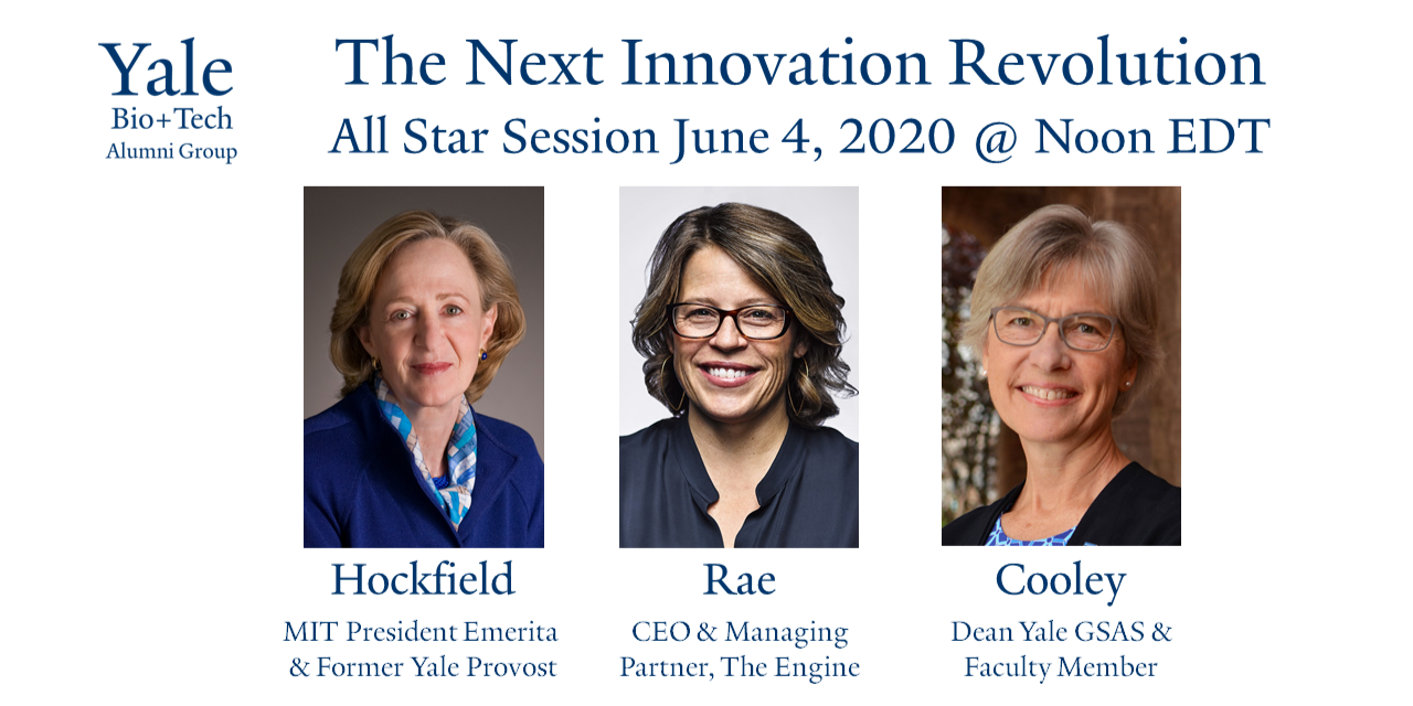 [VIRTUAL from the Yale Alumni Association] The Next Innovation Revolution: Biology, Engineering, & the Sciences of our Future