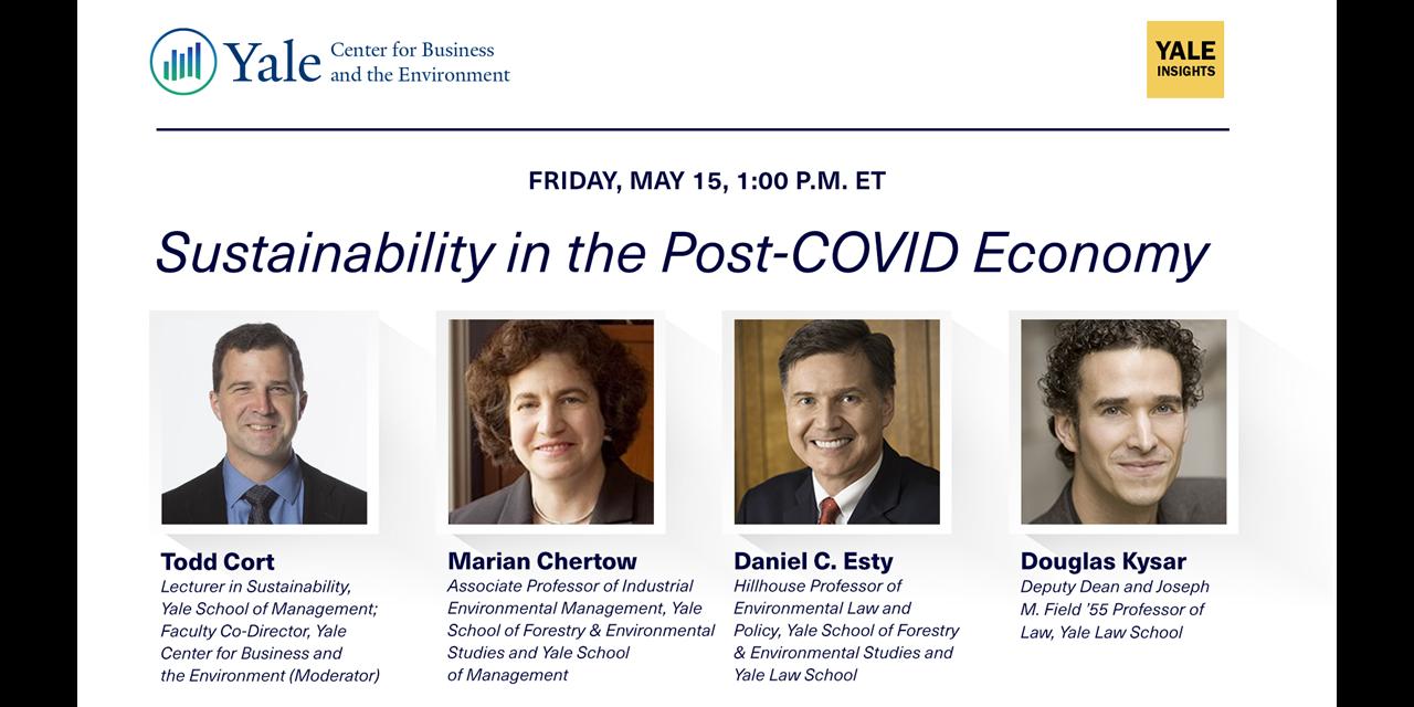[WEBINAR] Sustainability in the Post-COVID Economy Event Logo